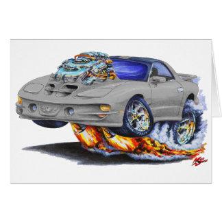 1998-02 Firebird Trans Am Silver Car Greeting Cards