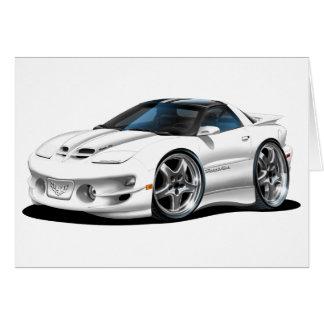 1998 -02 Firebird Trans Am White Car Greeting Card