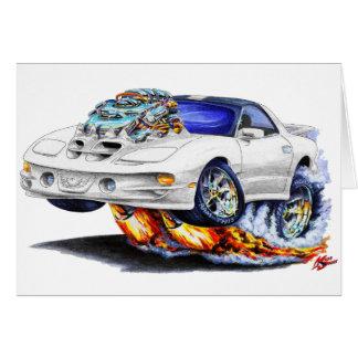 1998-02 Firebird Trans Am White Car Greeting Card