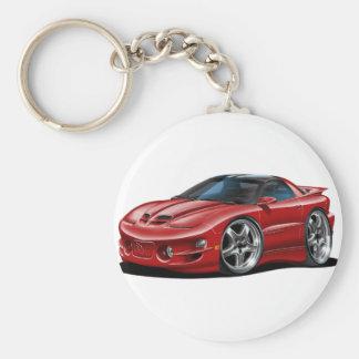 1998-02 Trans Am Maroon Car Basic Round Button Key Ring
