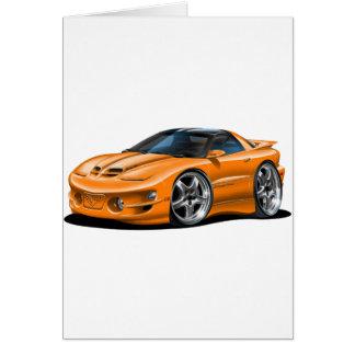 1998-02 Trans Am Orange Car Greeting Card