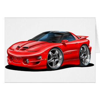 1998-02 Trans Am Red Car Greeting Card