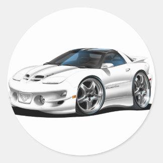1998-02 Trans Am White Car Classic Round Sticker