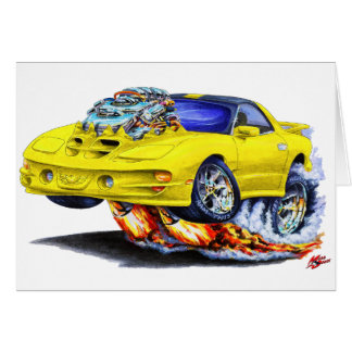 1998-02 Trans Am Yellow Car Greeting Card