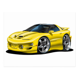 1998-02 Trans Am Yellow Car Post Cards