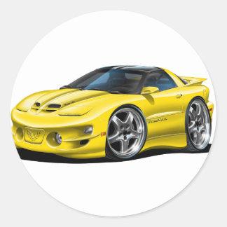 1998-02 Trans Am Yellow Car Sticker
