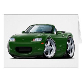 1999-05 Miata Green Car Greeting Card