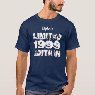 1999 Ltd Ed 16th Birthday or Any Year Navy W16D T-Shirt