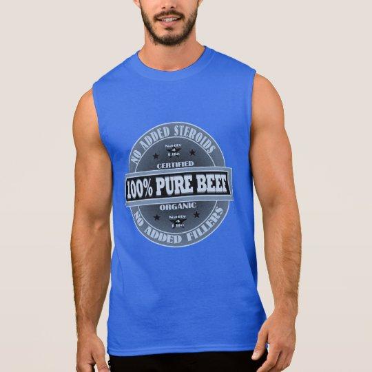 199% Pure Beef No Steroids Sleeveless Shirt
