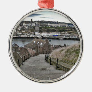 199 Steps Whitby Silver-Colored Round Decoration