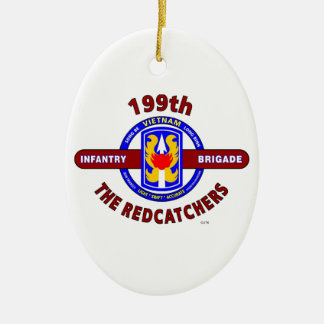 "199TH INFANTRY BRIGADE "" THE REDCATCHERS""VIETNAM CHRISTMAS ORNAMENT"