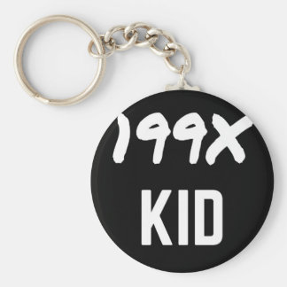 199X Ninety's Generation X Illustration Design Key Ring