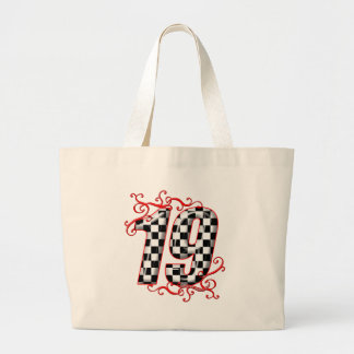 19 auto racing number tote bags