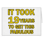 19 birthday design card