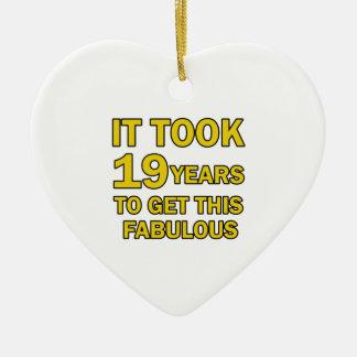 19 birthday design christmas ornament