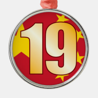 19 CHINA Gold Christmas Ornament