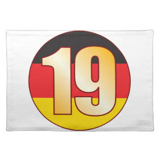 19 GERMANY Gold Placemat