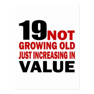 19 Just Growing Old Birthday Designs Postcard
