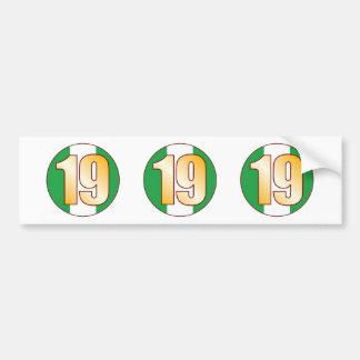 19 NIGERIA Gold Bumper Sticker