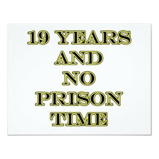 19 no prison time personalized announcement