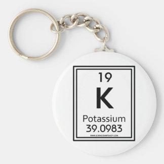 19 Potassium Basic Round Button Key Ring