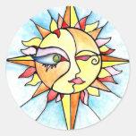 19 - Sun Round Sticker