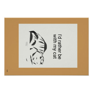 """19"""" x 13"""", Cat Poster (Matte)"""