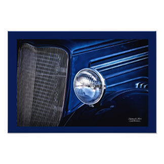 19 x 13-inch Vintage Car titled: Classic Denim Photo
