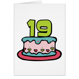 19 Year Old Birthday Cake Card