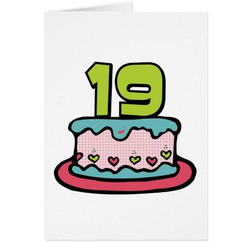 19 Year Old Birthday Cake Card