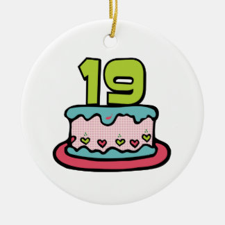 19 Year Old Birthday Cake Ornaments