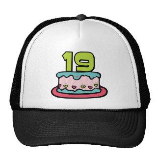 19 Year Old Birthday Cake Trucker Hat