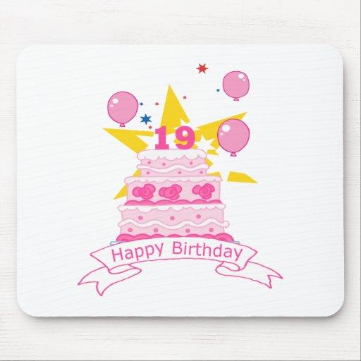19 Year Old Birthday Cake Mousepad