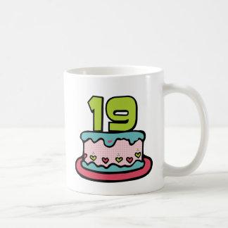 19 Year Old Birthday Cake Mug
