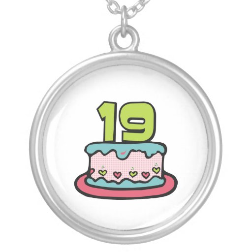 19 Year Old Birthday Cake Necklace
