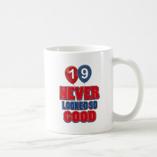 19 year old birthday designs mugs