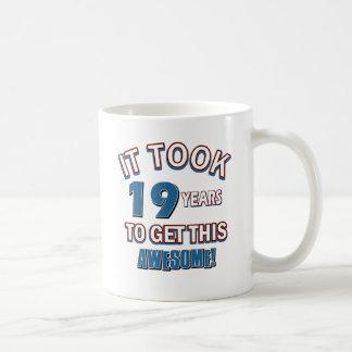19 year old birthday designs coffee mugs