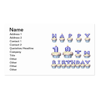 19 Year Old Double-Sided Standard Business Cards (Pack Of 100)