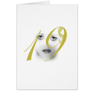 19 Year Old Girls Green Greeting Card