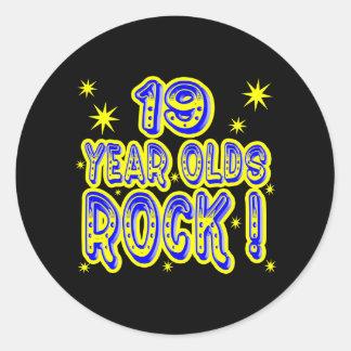 19 Year Olds Rock! (Blue) Sticker