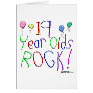 19 Year Olds Rock! Greeting Card