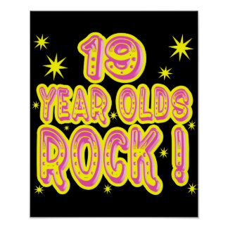 19 Year Olds Rock! (Pink) Poster Print