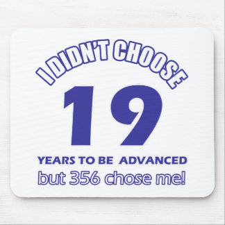 19 years advancement mouse pad