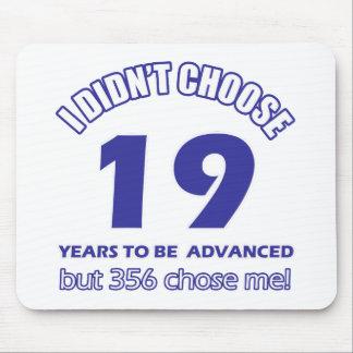 19 years advancement mousepad