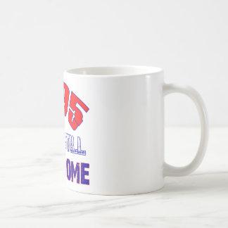 19 years Old birthday designs Basic White Mug