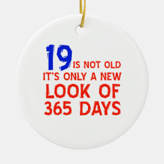 19 years Old birthday designs Ornaments