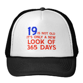 19 years Old birthday designs Trucker Hats
