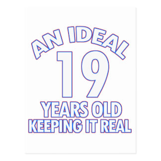 19 YEARS OLD BIRTHDAY DESIGNS POSTCARD