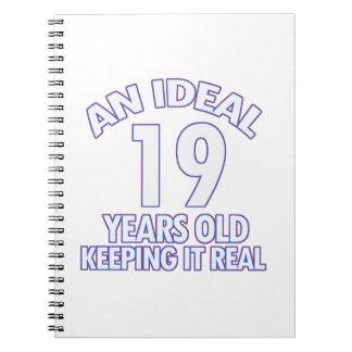 19 YEARS OLD BIRTHDAY DESIGNS SPIRAL NOTEBOOK