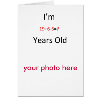 19 years old card